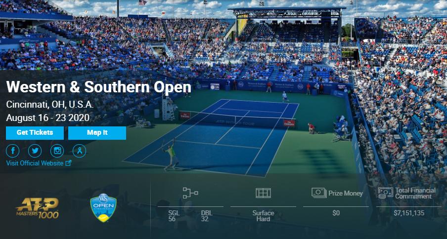 2020西南财团网球公开赛官网、直播安排、比赛时间和赛程